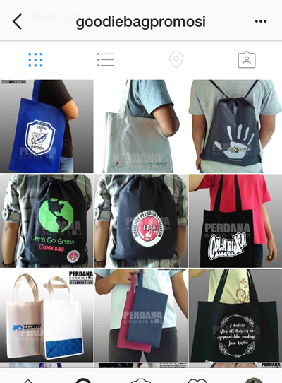instagram perdana goodie bag