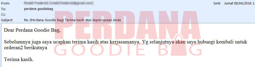 review pelanggan perdana goodie bag rinald note