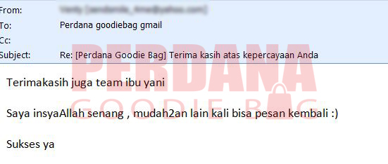 testimoni perdana goodie bag venty note