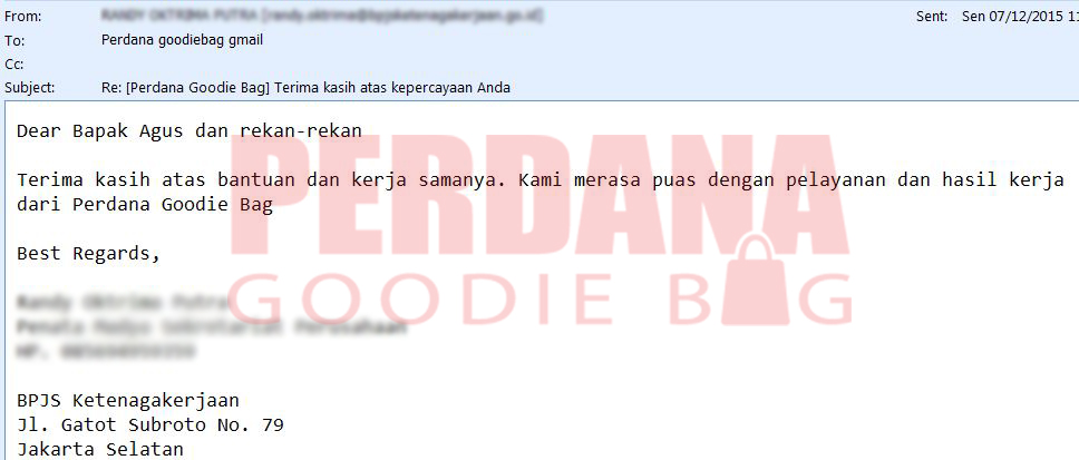 testimonial perdana goodiebag randy noted