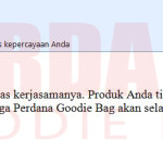 testimoni perdana goodie bag andi note