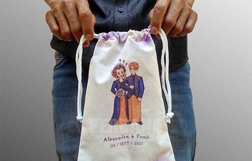 Contoh Tas Souvenir Pernikahan Blacu Printing Di Petukangan