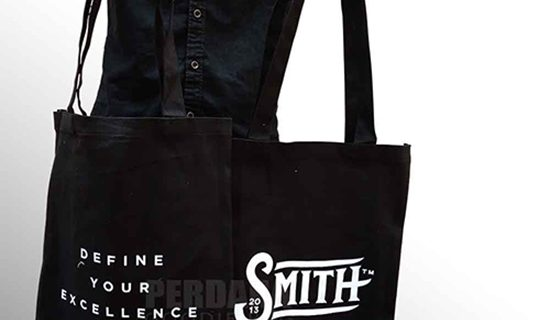 Tote Bag Kanvas Warna Hitam Smith Project Alam Sutera