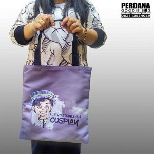 Tas Kanvas Printing Sublim Warna Ungu Alston Q3493