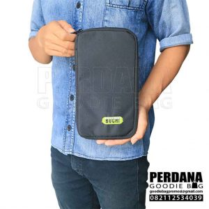 contoh pouch dompet bahan dinier by perdana