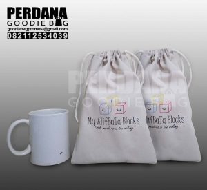 tas blacu serut sablon by Perdana Goodie Bag