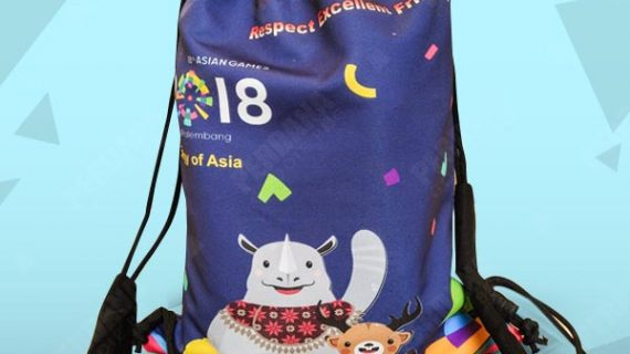 drawstring bag asian games 2018 perdana goodiebag