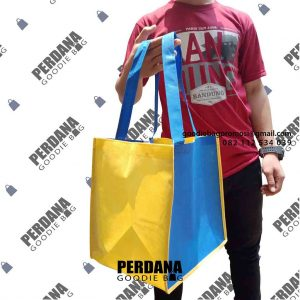 tas box makanan bahan spunbond ready stock by perdana goodie bag
