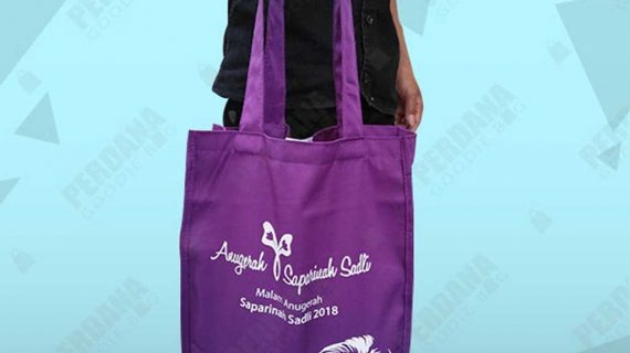 tote bag drill warna ungu saparinah di dharmawangsa id4204