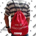 Tas Serut Untuk Souvenir ICBC Jalan Raya Puspitek Buaran TangSel