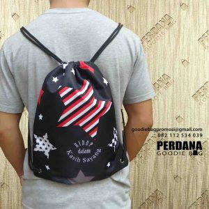 jual drawstring bag custom full warna di Kebayoran Baru id4926