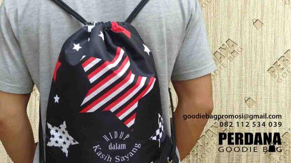 Jual Drawstring Bag Pesanan Klien Di Jl. Mulawarman Kebayoran Baru