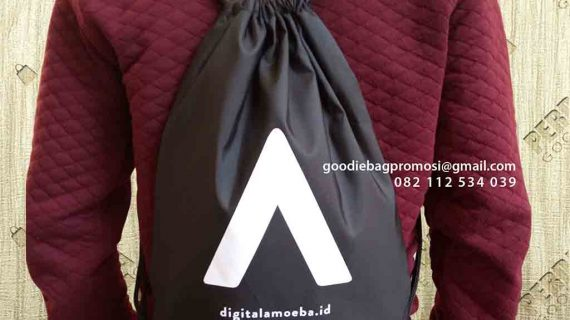 Tas Serut Drawstring Anti Air Telkom Landmark Tower Gatot Subroto