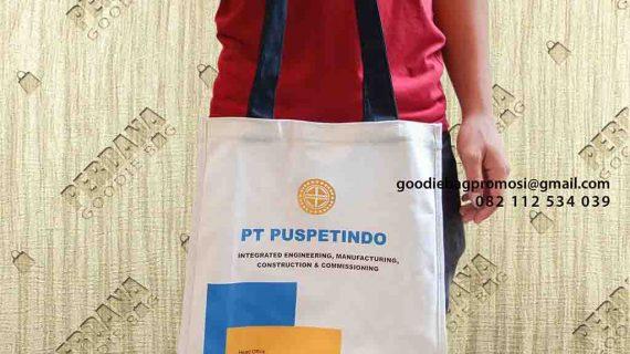Pesanan Tas Souvenir Kanvas Klien Puspetindo TB Simatupang