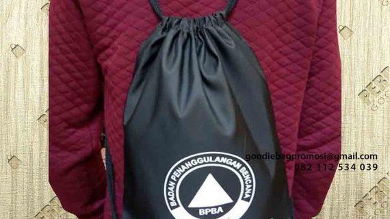 Drawstring Bag Anti Air BPBA Kota Banda Aceh