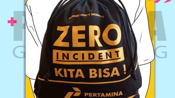 Tas Kanvas Ransel Serut Pertamina Balikpapan Kalimantan Timur