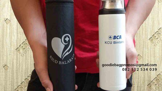 Contoh Tas Souvenir Custom Botol Minum Klien Poris Gaga Baru Tangerang