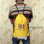 Review Pembuatan Drawstring Bag Bahan Waterproof Klien Villa Cibening Indah Bekasi