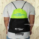 Drawstring Bag Bahan Anti Air Taslan Hijau Kombinasi Hitam Kirim Ke Makassar Sulawesi Selatan By Perdana
