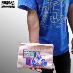 Goodie bag Pouch dompet bahan kanvas printing ID3433