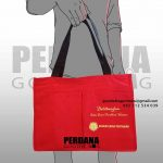 tas goodie babg seminar bahan kanvas warna merah id5621