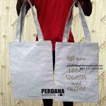 Jual Goodie Bag Bahan Kanvas Desain Sablon Kirim Menteng Dalam Tebet Jakarta