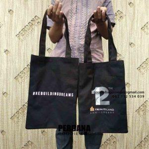 Tote Bag Kanvas Custom Sablon Klien MH Thamrin Menara Serpong Pinang Tangerang Id8049P
